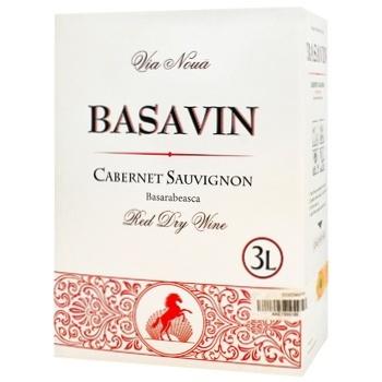 Вино Basavin Каберне Совиньон красное сухое 13% 3л