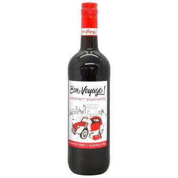 Вино безалкогольное Bon Voyage! Каберне Совиньон красное полусладкое 0,75л