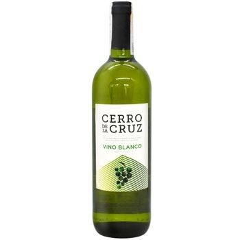 Вино біле Серро де ля Крус Бланко виноградне натуральне сухе 11% 0,75л