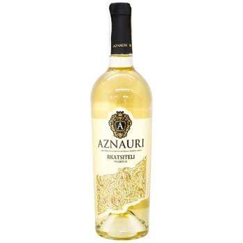 Aznauri Rkatsiteli white dry wine 14% 0,75l