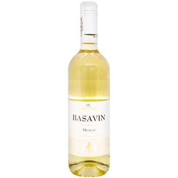 Вино Basavin Мускат белое полусладкое 11% 0,75л