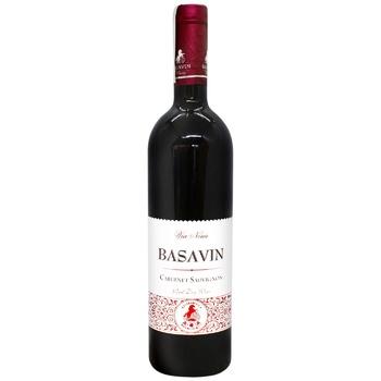 Вино Basavin Сильвер Каберне красное сухое 12% 0,75л