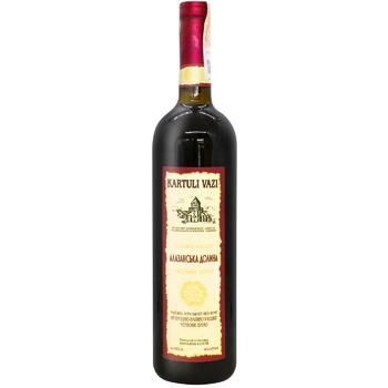 Вино Kartuli Vazi Алазанская Долина натуральное красное полусладкое 11% 0.75л