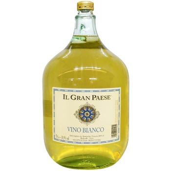 Вино IL Gran Paese белое полусухое 5л
