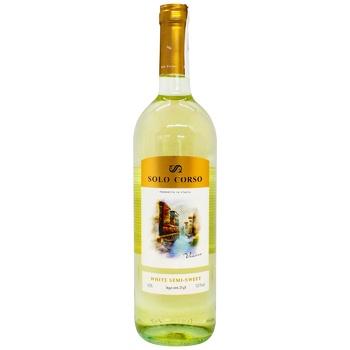 Solo Corso white semi-sweet wine 11,5% 0,75l - buy, prices for CityMarket - photo 1