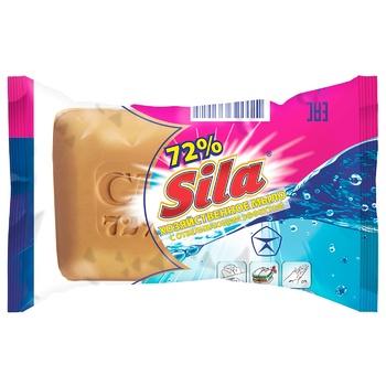 Мыло хозяйственное Sila с отбеливающим эффектом 72% 200г