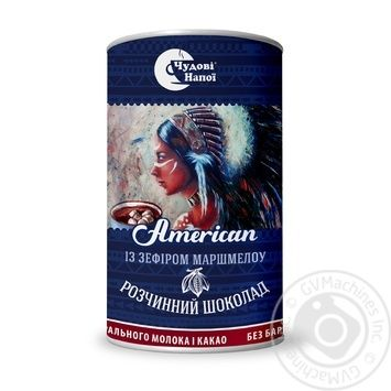Chudovi Napoi Instant Hot Chocolate American 200g - buy, prices for MegaMarket - image 1