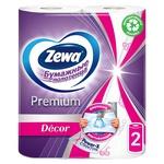 Рушники паперові Zewa Premium Decor білі 2-х шарові 2шт