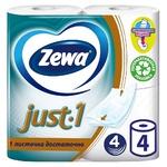 Туалетная бумага Zewa Just 1 4-х слойная 4шт