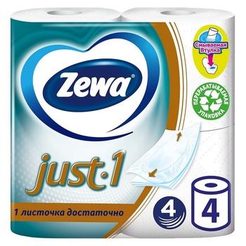 Zewa Just 1 4-layer toilet paper 4pcs