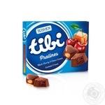 Цукерки шоколадні Roshen Tibi Pralines з вишнево-шоколадною та карамельною начинками 119г