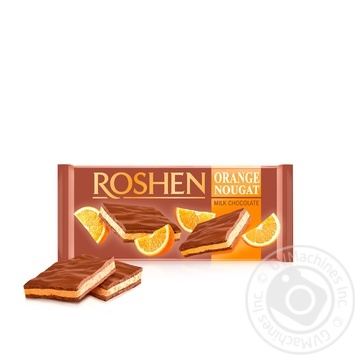 Шоколад молочний Roshen з апельсиновою нугою 90г