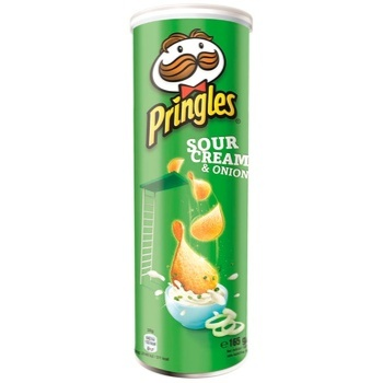 Pringles With Sour Cream And Onion Taste Potato Chips
