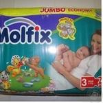 Diaper Molfix for children 4-9kg 74pc Turkey