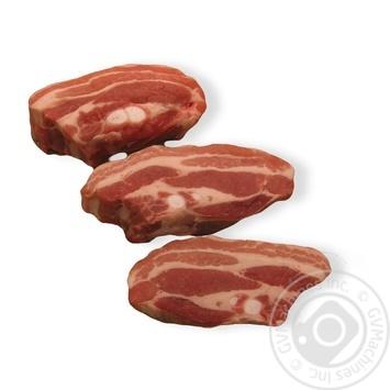 Стейк свиной из грудинки охлажденный без кости