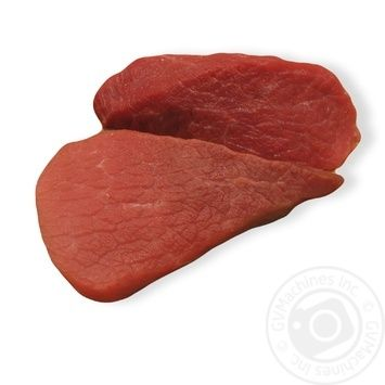 Chilled beef steak made of leg