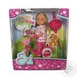 Игрушка Simba Toys Ева кукла на велосипеде