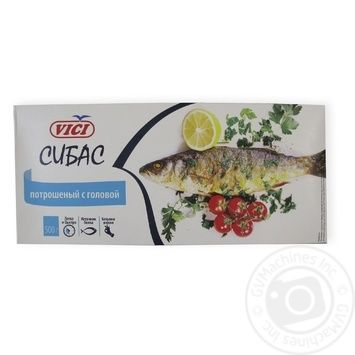 Fish seabass european Vici with the head 500g - buy, prices for Novus - image 1