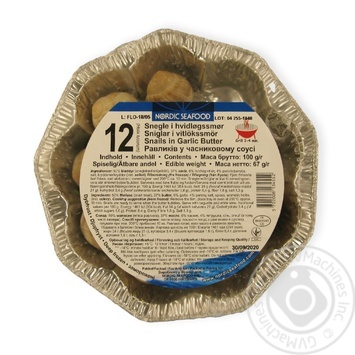 Snails in garlic butter Nordic Seafood 12units х 67g
