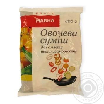 Смесь овощная Marka Promo для омлета быстрозамороженная 400г - купить, цены на Novus - фото 2