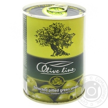 olive Olive line green pitted 420g can