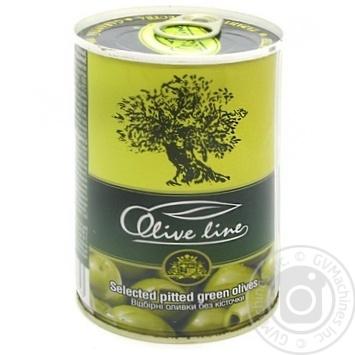 Оливки Olive Line відбірні без кісточки 420г