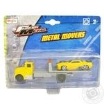 Набір іграшковий Metal Movers- трейлер-транспортер+машинка Maisto