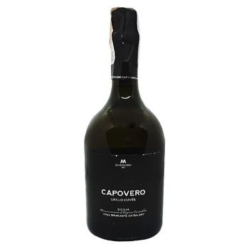 Вино игристое Capovero Grillo Cuvee Charmat белое сухое 11,5% 0,75л