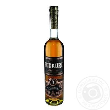 Gudauri 3 Stars Cognac 40% 0,5l