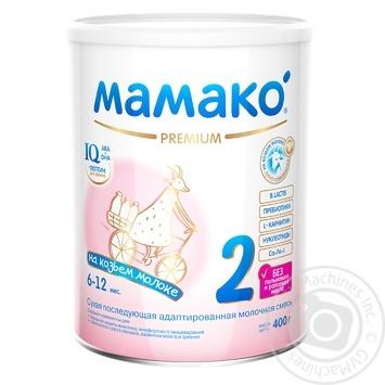 Молочная смесь Мамако 2 Premium на основе козьего молока суха для детей с 6 до 12 месяцев 400г - купить, цены на Novus - фото 1