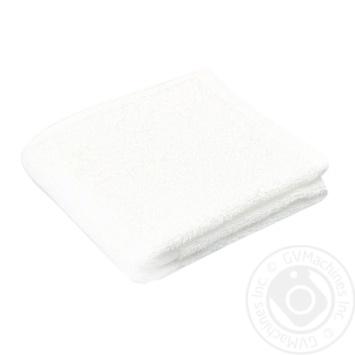 Рушник махровий білий 400 гр/кв.м 40*70см - купити, ціни на Novus - фото 1