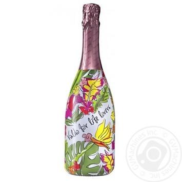 Вино игристе Vlado Spumante Rose Brut розовое сухое 11% 0,75л - купить, цены на Novus - фото 1