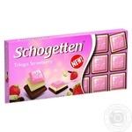Chocolate white Schogetten strawberries with cream bars 100g