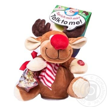 Новогодний набор игрушка Windel Олень и конфеты из молочного шоколада - купить, цены на Novus - фото 1