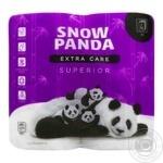 Папір туалетний Snow Panda superior чотирьохшарова 4шт - купити, ціни на Novus - фото 1
