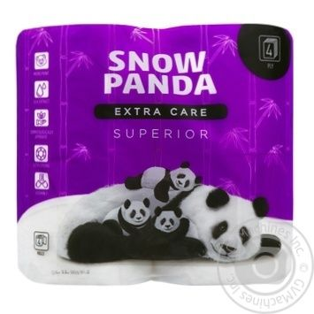 Snow Panda Superior Four-Layer Toilet Paper 4pc - buy, prices for Novus - image 1