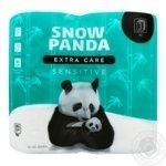 Snow Panda Sensitive Three-Layer Toilet Paper 4pc