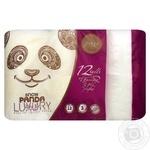 Папір туалетний Сніжна панда Luxury Pure 12шт/уп