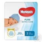 Серветки вологі Huggies Pure Extra Care дитячі 3х56шт