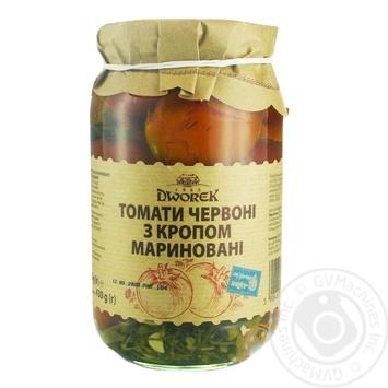 Помидоры Dworek-1905 с укропом По-Неженски 880г - купить, цены на Novus - фото 1