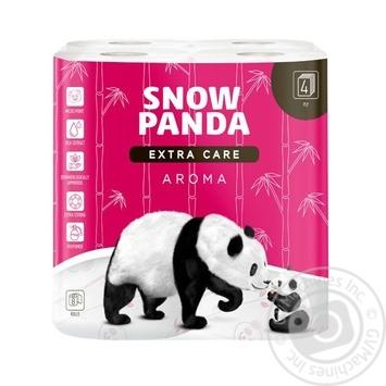 Папір туалетний Snow Panda aroma чотирьохшарова 8шт - купити, ціни на Ашан - фото 1