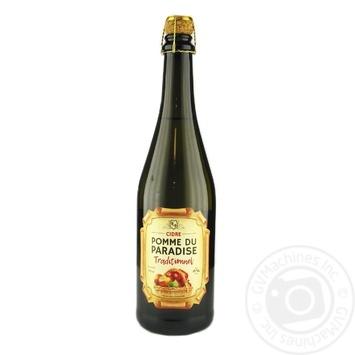 Pomme du Paradise Traditional white semi-sweet cider 6% 0,75l - buy, prices for Novus - image 1