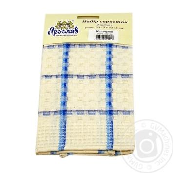 Набор вафельных салфеток Ярослав Цветные 2шт - купить, цены на Novus - фото 1