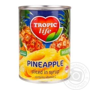 Ананас Tropic Life кусочками в сиропе 850мл - купить, цены на Novus - фото 1