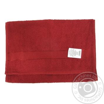 Рушник махровий Aisha 40*70 бордовий бавовна 100% - купить, цены на Novus - фото 2