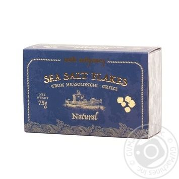 Сіль морська харчова в кристалах Salt Odyssey к/у 75г - купить, цены на Novus - фото 1