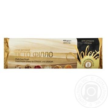 Тесто Филло Valesto для штруделя и лазаньи замороженное 400г