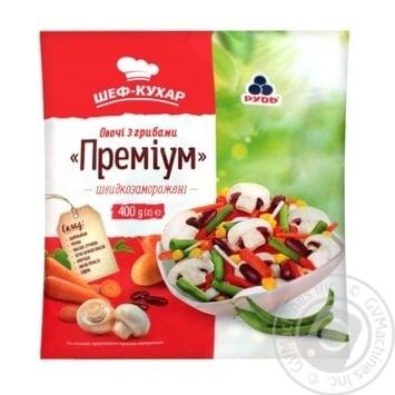 Овощи с грибами Рудь Премиум быстрозамороженные 400г - купить, цены на МегаМаркет - фото 1