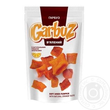 Тыква вяленая Garbuz с натуральным вкусом апельсина 100г - купить, цены на МегаМаркет - фото 1