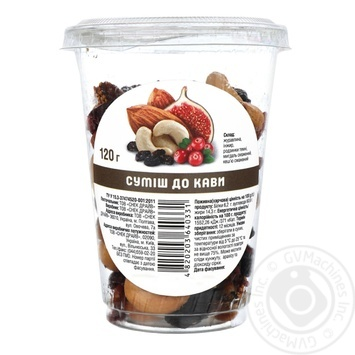 Almond Mix of Dried Fruits and Nuts for Coffee 120g - buy, prices for Auchan - photo 1